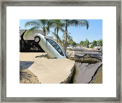 Sink Hole Framed Print by Jim Hubbard