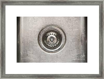 Sink Plug Framed Print by Tim Hester