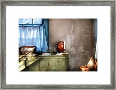 Sink - The Jug And The Window Framed Print by Mike Savad