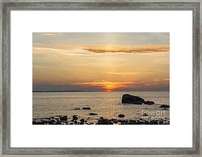 Sinking Beneath The Horizon Framed Print