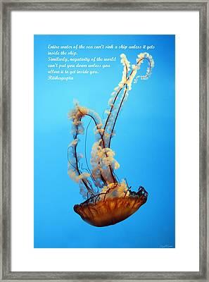 Sinking Framed Print by David Simons