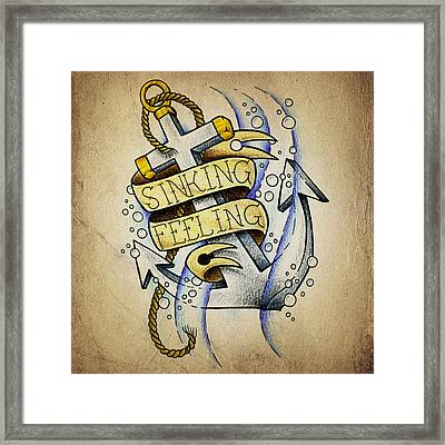 Sinking Feeling Framed Print