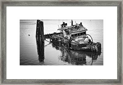 Sinking Framed Print by Heather Applegate