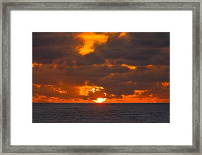 Sinking In The Sea Framed Print