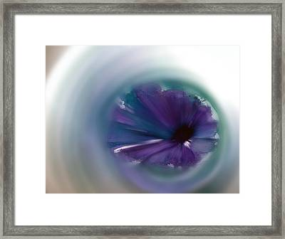 Framed Print featuring the mixed media Sinking Into Beauty by Frank Bright