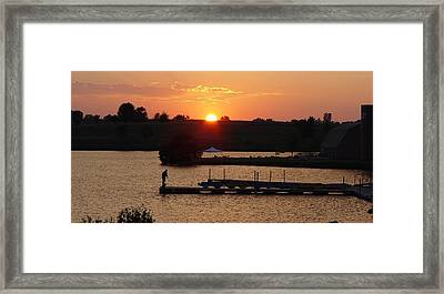Framed Print featuring the photograph Sinking Sun by Elizabeth Sullivan
