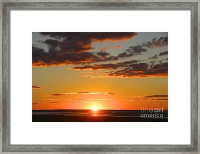 Sinking Sun Framed Print