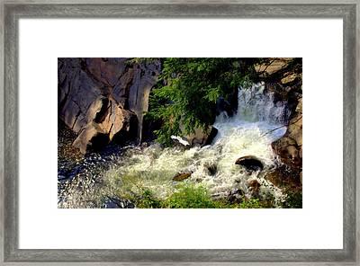 Sinks Waterfall Framed Print by Karen Wiles