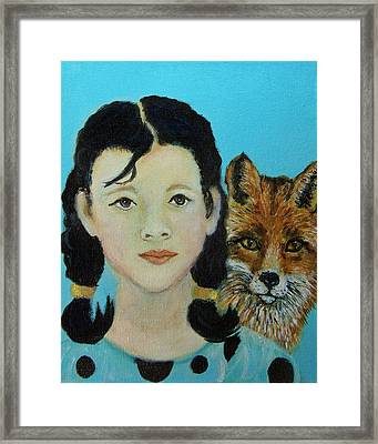 Sinopa Little Fox Framed Print by The Art With A Heart By Charlotte Phillips