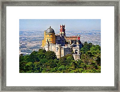 Sintra Pena Palace  Portugal Framed Print by Jaime Alves