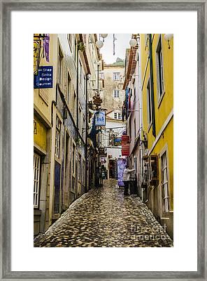 Sintra Street Framed Print by Deborah Smolinske