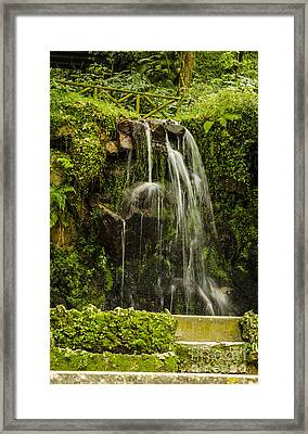 Sintra Waterfall Framed Print by Deborah Smolinske