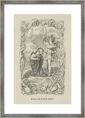 Sintram And The Little Master Framed Print by British Library
