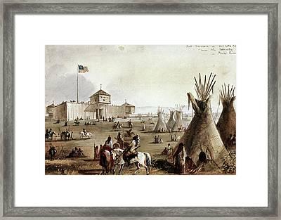 Sioux At Fort Laramie, 1837 Framed Print by Granger