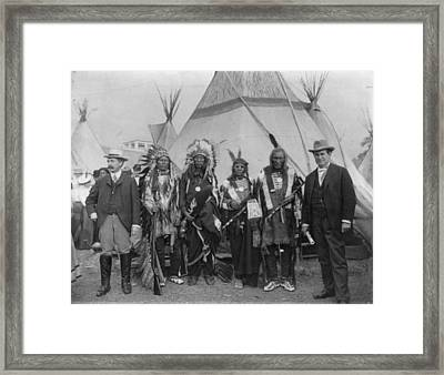 Sioux Chiefs, 1901 Framed Print by Granger
