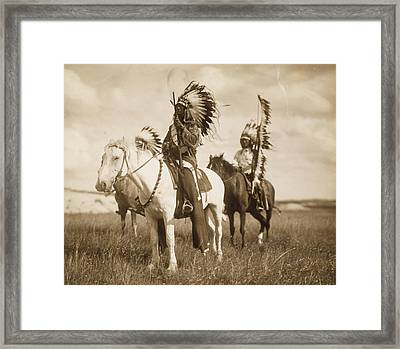 Sioux Chiefs  Framed Print by Unknown