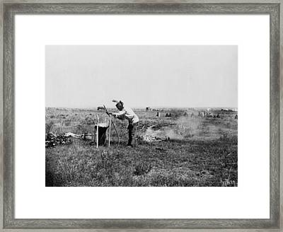 Sioux Cooking, C1911 Framed Print by Granger
