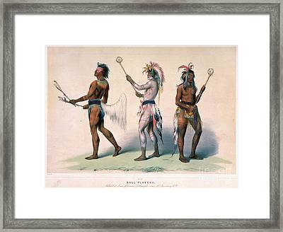 Sioux Lacrosse Players Framed Print by Granger