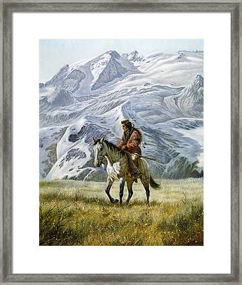 Sioux Scout Framed Print by Gregory Perillo