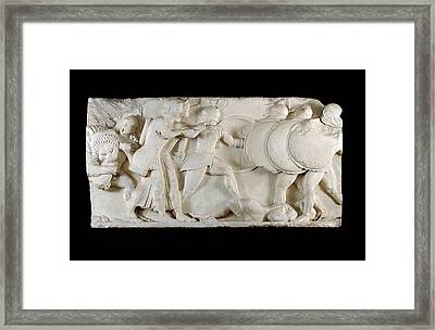 Siphnian Treasury Frieze Framed Print by Ashmolean Museum/oxford University Images