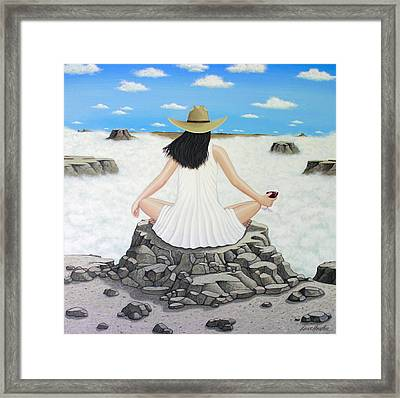 Framed Print featuring the painting Sippin' On Top Of The World by Lance Headlee