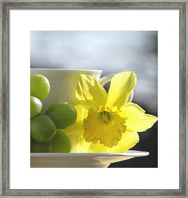 Sipping Spring Framed Print