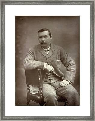 Sir Arthur Conan Doyle Framed Print by British Library