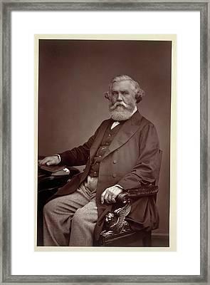 Sir Austen Henry Layard Framed Print by British Library