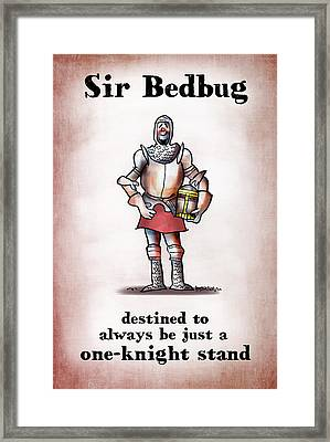 Sir Bedbug Framed Print