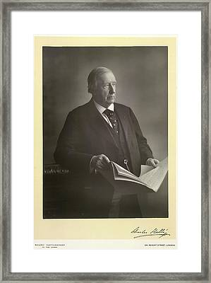 Sir Charles Halle Framed Print by British Library
