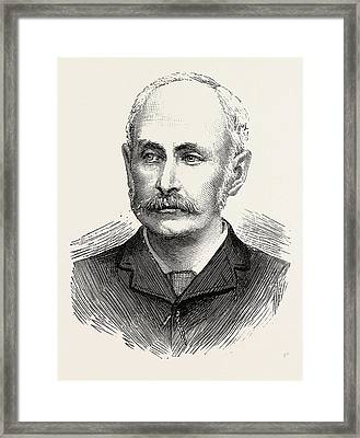 Sir Edward Bradford, The New Commisioner Of Police Framed Print by English School