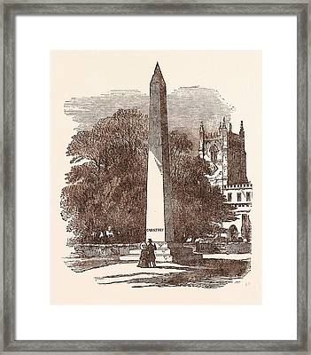 Sir Francis Chantrey, Born April 7 Framed Print