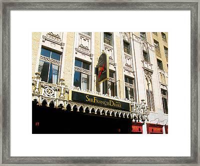 Sir Francis Drake Hotel Framed Print by Connie Fox