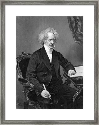 Sir Frederick William Herschel Framed Print by Underwood Archives