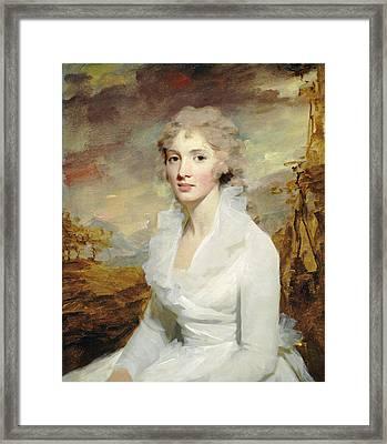 Sir Henry Raeburn, Miss Eleanor Urquhart Framed Print by Litz Collection