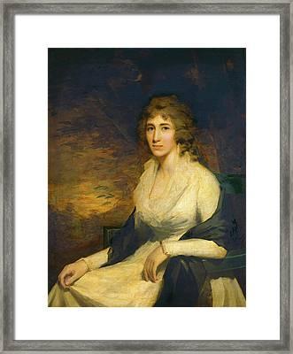 Sir Henry Raeburn, Mrs. George Hill, Scottish Framed Print by Quint Lox