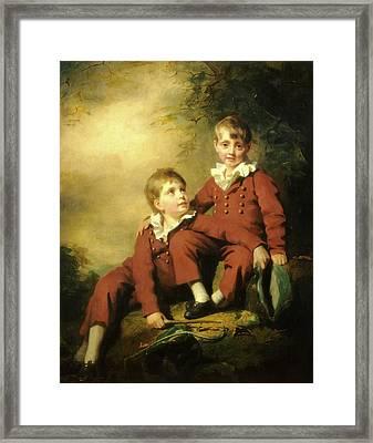 Sir Henry Raeburn, The Binning Children, Scottish Framed Print by Litz Collection