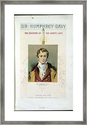 Sir Humphrey Davy Framed Print by British Library