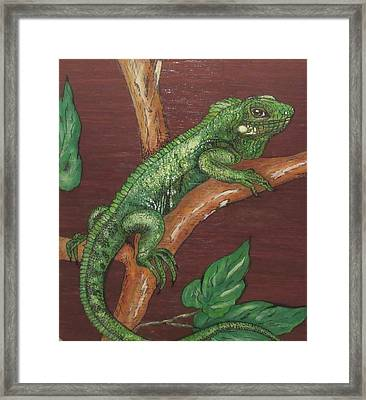 Sir Iguana Framed Print