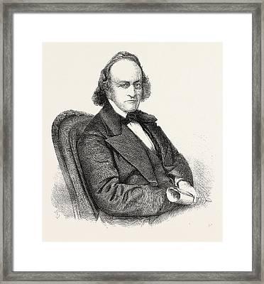 Sir John Bowring, Governor Of Hong Kong Framed Print by English School