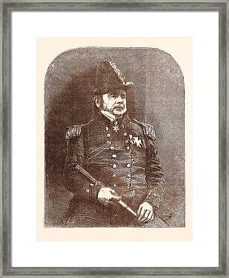 Sir John Franklin Intelligence Of The Discovery Framed Print