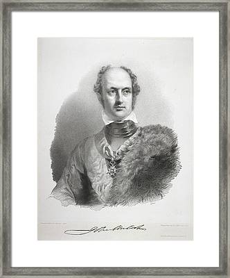 Sir John Malcolm Framed Print by British Library