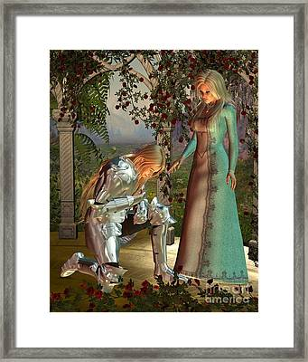 Sir Launcelot And Queen Guinevere Framed Print by Fairy Fantasies