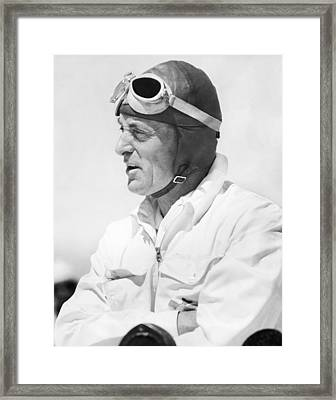 Sir Malcolm Campbell Portrait Framed Print by Underwood Archives