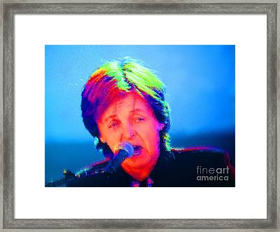 Sir Paul Glowing Framed Print by Tina M Wenger