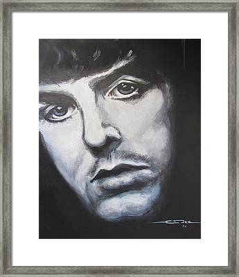 Sir Paul Mccartney Framed Print by Eric Dee