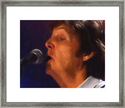 Sir Paul Framed Print by Michael Pickett