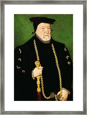 Sir Percival Hart, Unknown Artist, 16th Century Framed Print by Litz Collection