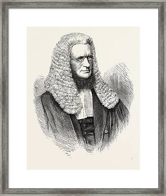 Sir R.d. Hanson, Chief Justice Of The Supreme Court Framed Print