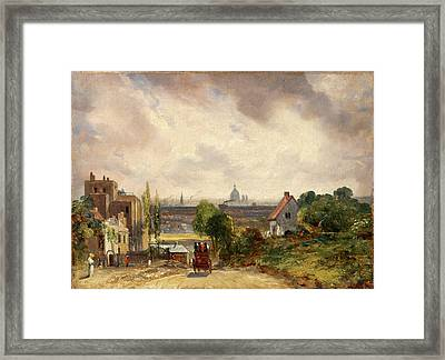 Sir Richard Steeles Cottage, Hampstead A View Of London Framed Print